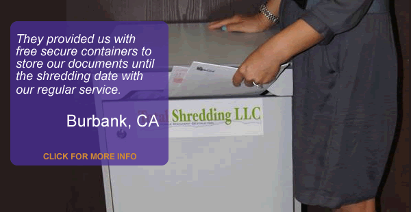 Free Secure Containers With Scheduled Shredding Service